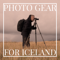 Photo Gear for Iceland